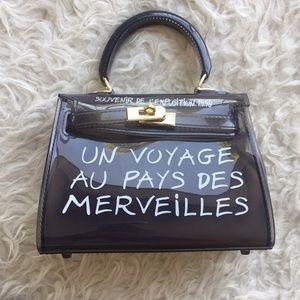 Handbags - Kelly bag  black transparent mini